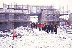 rondleiding tijdens de bouw